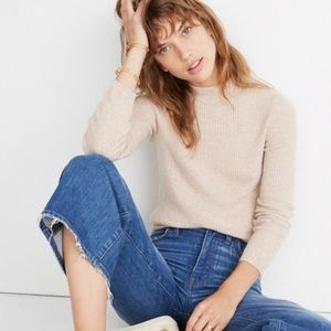 Madewell pullover blush oyster donegal turtleneck
